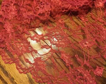 Very Pretty Copper Colored Lace.  2 Yards