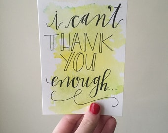 Thank You card style #1