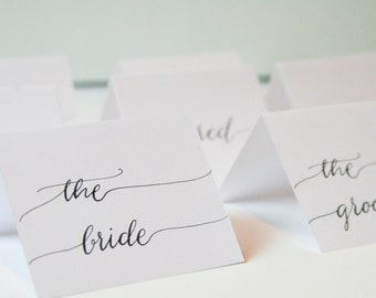 Wedding Calligraphy Place Cards•Classic•budget•rustic place cards•simple place cards•