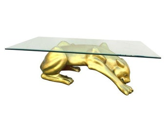 Leopard coffee table, mid-century in perfect condition.