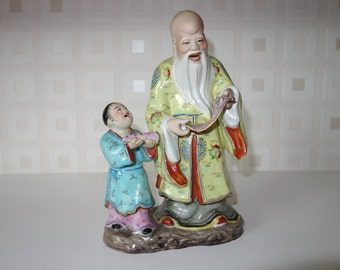 Shou Lau and boy attendant