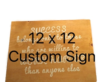 Custom Wood Signs - Wooden Signs - Custom Sign Wood - Personalized Signs - Personalized Gifts - Family Name Sign - Customized Wooden Signs