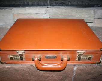 Vintage Pabrini Brown Leather Briefcase