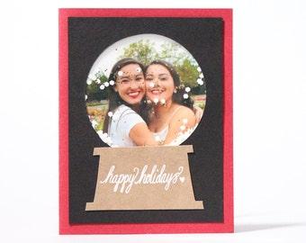 Happy Holidays Snow Globe Card
