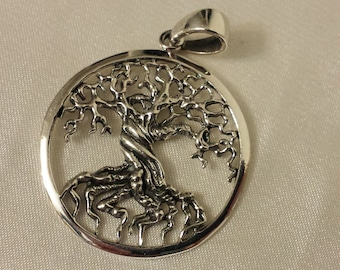 Tree of life pendant, Sterling Silver tree of life pendant