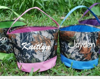 Personalized Camo Easter Baskets