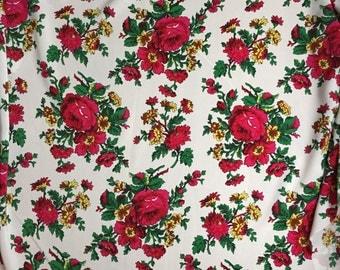 Folk floral fabric,excellent for skirts floral print
