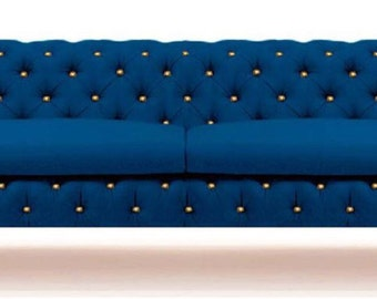 Couch , Beautiful Chesterfield , Vintage sofa Loveseat , Handcrafted , Sofa, Chesterfield ,