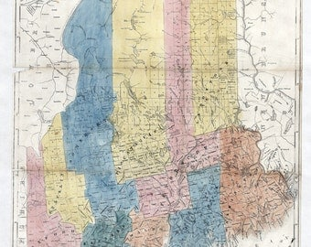 1840 Map of the State of Maine Colesworthy
