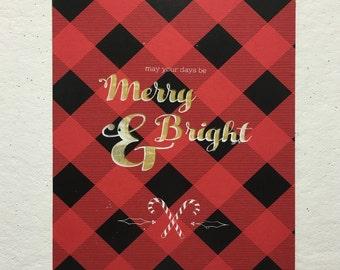 Merry & Bright || 2-Color Screen Print