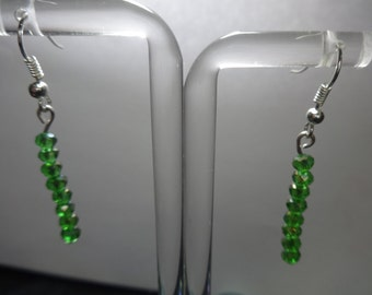 single drop glass bead earrings