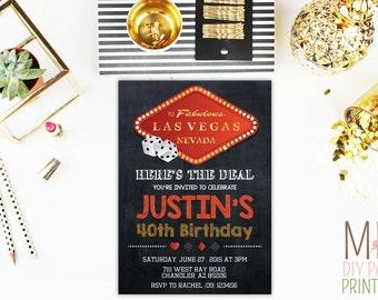 Casino Invitation 3,Casino Invitation. Casino Birthday Invitation, Casino Party, Poker party,Vegas Invite,Vegas Theme, Adult Birthday