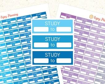 Study Stickers Study Planner Stickers Printable Study Schedule Planner Stickers Erin Condren Stickers Study Winter stickers