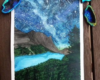 Peyto Lake original watercolor painting