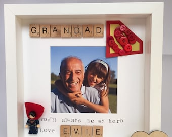 Daddy, Dad, Father's Day, Superman super hero frame