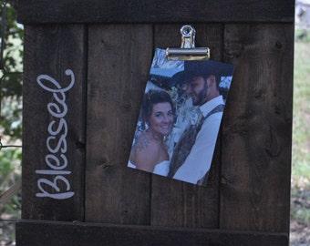 Wood Slat Photo Frame