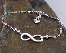 Infinity infinity bracelet heart silver