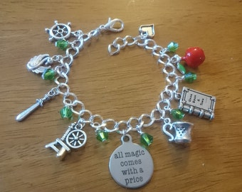 All magic comes with a price deluxe silver adjustable charm bracelet available in adult and child sizes