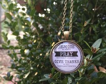 Rejoice Always Necklace