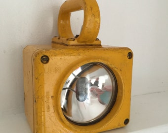 Vintage Nautical Yellow Lantern by The Roblar Company