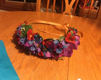 Multi-color Flower Crown