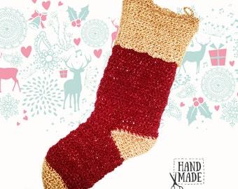 Crocheted Christmas sock [Handmade]