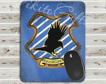 Ravenclaw Mousepad, Harry Potter Mousepad, Ravenclaw house Crest, Gamer Gift, Ravenclaw Gift