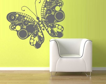 rvz1225 Wall Vinyl Sticker Decals Decor Butterfly Circles Bedroom