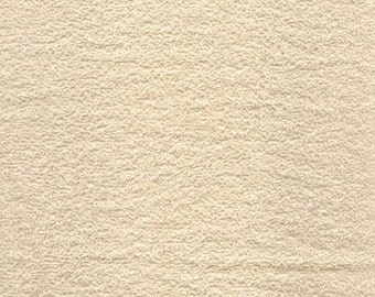 Ivory Terry Cloth Fabric Style# TC-8001 By The Yard