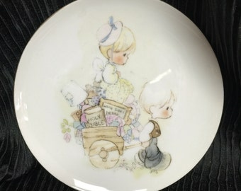 Precious moments plate, Enesco.