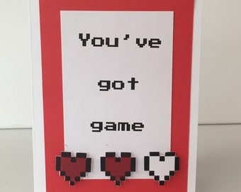 Humorous Valentine's card for gamers