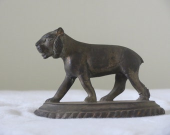 Tiger Cast Iron miniature on a stand: small