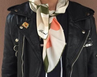 Vintage Designer silk scarf