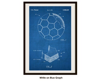 Soccer Ball Patent Printed on Poster Paper (Not Framed)