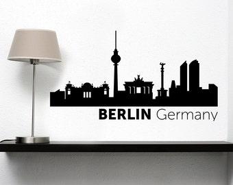 Berlin City Skyline Vinyl Decal