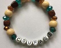 Hobbit Inspired Courage Slip-On Bracelet