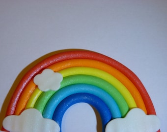 Small Rainbow Edible sugar paste cake topper decoration birthday party