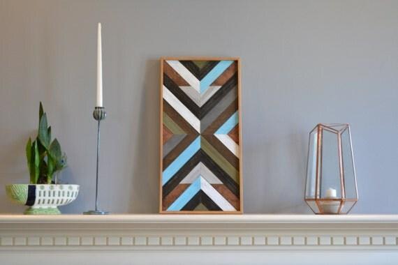 Wood Art Wall Art Tabletop Decor Southwest Pattern