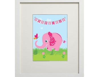 Elephant with bunting (digital footprint)