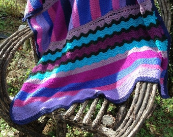 Sampler afghan - This item will be made to order with custom colors from buyer. Extra time needs to be allowed for shipping.
