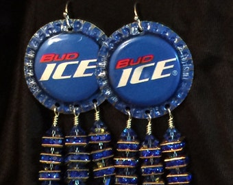 Bud Ice Beer Top Earrings