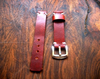 Leather Watch Strap, Handmade