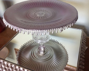 Vintage Glass Cake Stands