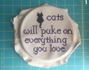 Cat puke stitch