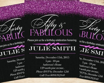 50 And Fabulous Invitations & Announcements, 50th Birthday Invitation for Women, 50 and Fabulous Invitations