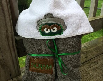 Grouchy Monster Hooded Towel