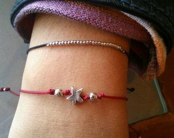 thin bracelet with star