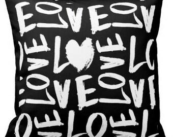 Love - Decorative Pillow, Throw Cushion, Pillow Cover, Decor, Throw Pillow, Cushion
