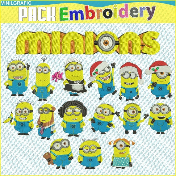 Minions set of 16 Embroidery Designs Brother patterns by