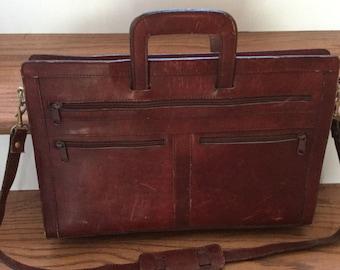 Vintage burgundy briefcase